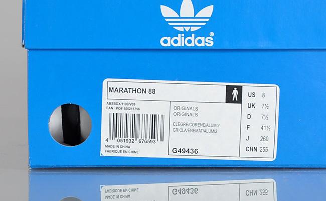 best website 72073 53051 adidas Originals Marathon 88  Core Energy  Grey