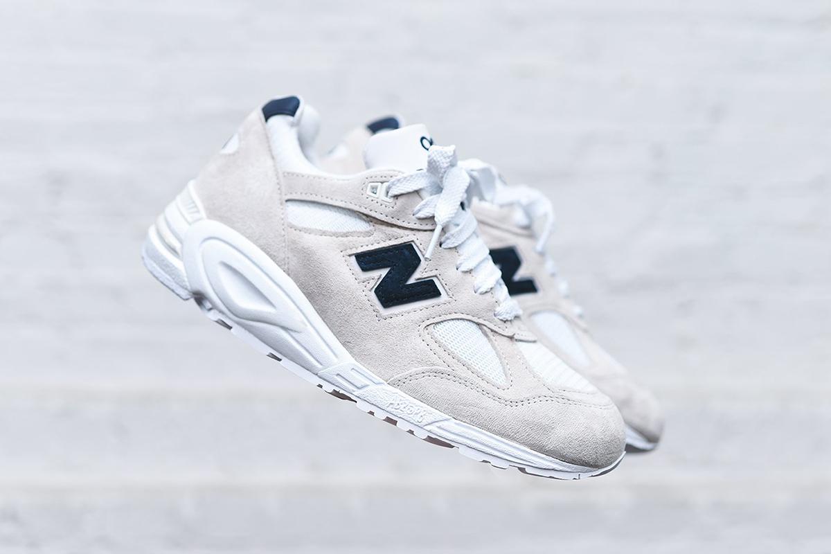 6b4a7745a3f32 New Balance 990 V2 in White/Navy for Spring/Summer - OG EUKicks Sneaker  Magazine